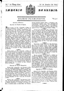 O Diário Fluminense de 18.01.1825
