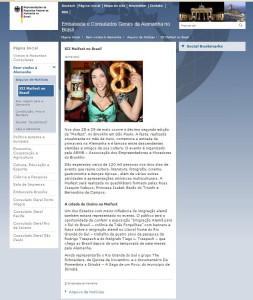 Embaixada Alemã destaca exposição sobre imigração alemã no sul do Brasil na Maifest 2011.