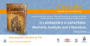 Convite-O Lavrador e o Sapateiro Feira do Livro de Porto Alegre