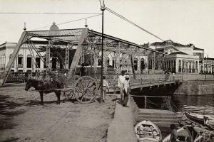 Ponte dos Remédios, Rua Miranda Leão, c. 1890. Manaus, AM. George Huebner.