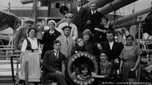 Emigrantes alemães rumo à Argentina na década de 1920. DW