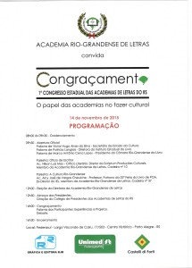 1º Congresso Estadual das Academias de Letras do RS