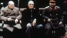 """Os """"Três Grandes"""", Roosevelt, Churchill e Stálin, tinham pouca coisa em comum […]"""