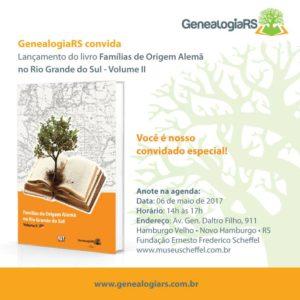 GenealogiaRS lança segundo volume do Famílias de Origem Alemã no Rio Grande do Sul
